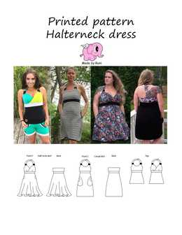 46 Halterneck dress woman size 34-58 (US 4-28)
