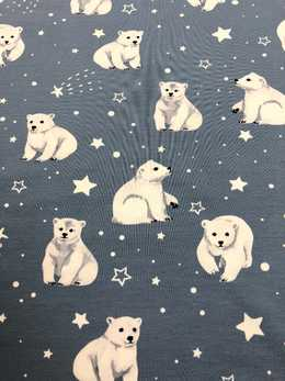 Polarbear & stars Dusty blue
