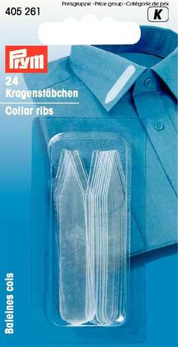 PRYM - Kragstöd plast transparent 24 st 10 x 55 mm