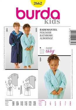 2662. Burda - BATHROBE