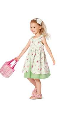 9460. Burda -  TODDLERS & GIRLS DRESS & JUMPSUIT
