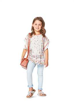 9340. Burda - CHILD'S SUMMER PONCHO