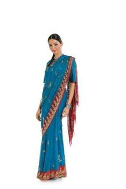 7701. Burda Dam - SARI /TUNIC / PANTS