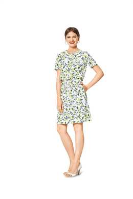 6419. Burda Dam - WOMEN'S SHORT SLEEVE DRESS