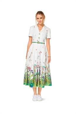 6520. Burda Dam - WOMEN'S' DRESS, BLOUSE AND SKIRT
