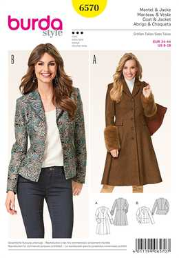 6570. Burda Dam - JACKET & COAT