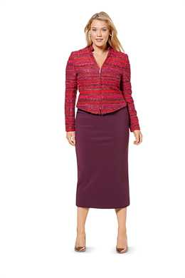 6616. Burda Dam - COATS/JACKETS PLUS SIZES