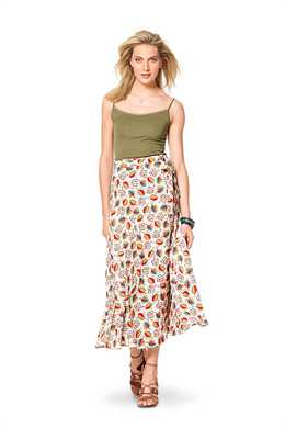 6340. Burda Dam - BURDA STYLE PATTERN MISSES' WRAP SKIRT