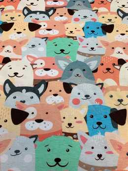 Crowed Animals Pastell