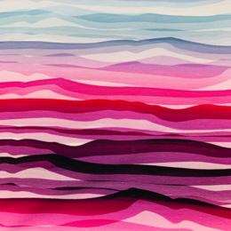 Wave Stripe Cerise