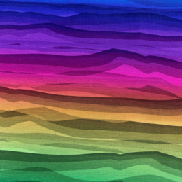 Wave Stripe Rainbow color