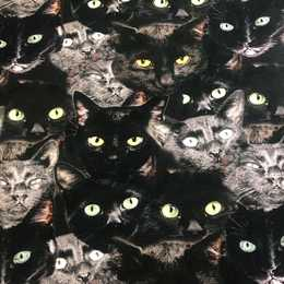 Dark Cats Trikåtyg