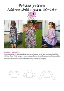 Add-on Child Dresses 80-164 Made by Runi
