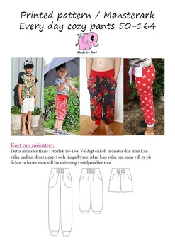 Every Day Cosy Pants 34-58 Made by Runi